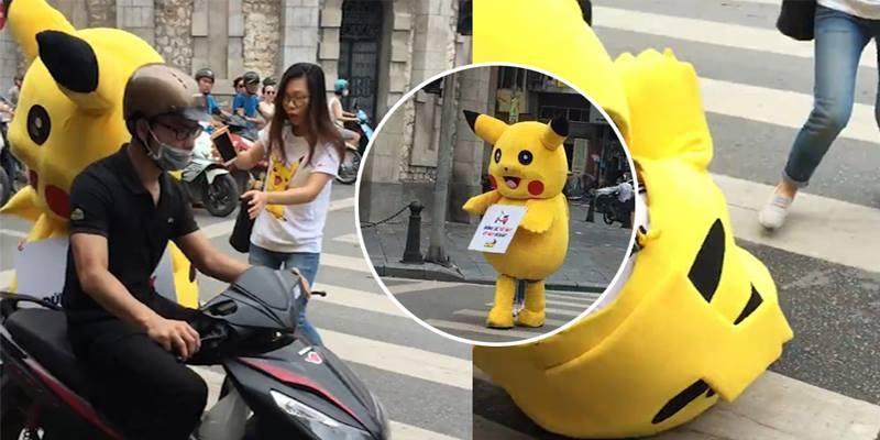 Pikachu bị tông xe giữa phố vì nhắc nhở an toàn giao thông