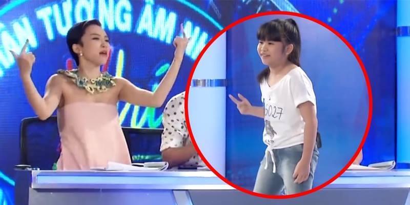 """Tóc Tiên """"quẩy"""" hết mình với thí sinh 9 tuổi hát """"nhạc người lớn"""""""