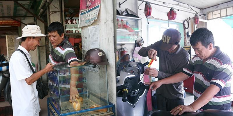Ông bụt của người nghèo và tiệm sửa xe đặc biệt nhất Sài Gòn