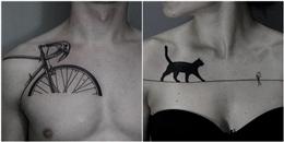 Gợi ý hình xăm đen trắng bằng nghệ thuật chấm điểm cực chất