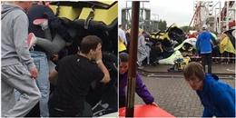 Kinh hoàng tàu lượn siêu tốc trật đường ray khiến 9 trẻ bị thương