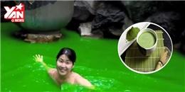 Ngất ngây với dịch vụ tắm nước trà xanh, cà phê, rượu tại Nhật