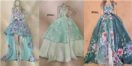 Những bộ váy chỉ xuất hiện trên bản vẽ cũng đủ làm người xem mê mẩn