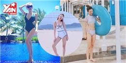 """Những mẫu đồ bơi được các mĩ nhân Việt """"lăng xê"""" trong hè này"""