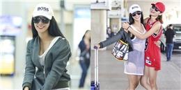 Diệp Lâm Anh diện đồ lưới xuyên thấu táo bạo tại sân bay