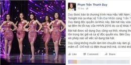 yan.vn - tin sao, ngôi sao - Thanh Duy tố BTC Hoa hậu Việt Nam vi phạm bản quyền
