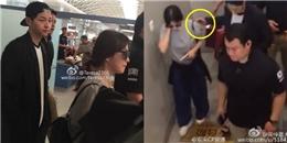 yan.vn - tin sao, ngôi sao - Song Joong Ki liên tục đưa tay bảo vệ Song Hye Kyo tại sân bay