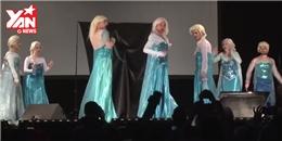 'Hoang mang' với màn biểu diễn có đến 8 nàng Elsa trên sân khấu