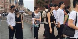 yan.vn - tin sao, ngôi sao - Huỳnh Hiểu Minh tình tứ dắt tay Angelababy đi chơi Disneyland
