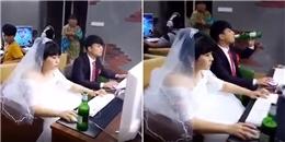 Đám cưới xong, cặp đôi không thèm tân hôn mà rủ nhau vào tiệm net