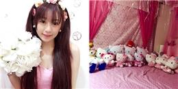 Loá mắt trước căn phòng 'hồng toàn tập' của cô nàng mê Hello Kitty