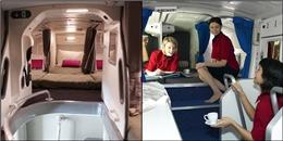 Khám phá 'nơi ăn chốn ở' của phi hành đoàn bên trong một chiếc máy bay