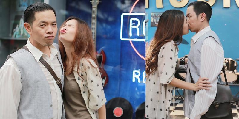 """Thái Hòa bối rối khi bị """"thánh nữ fan cuồng"""" khóa môi"""