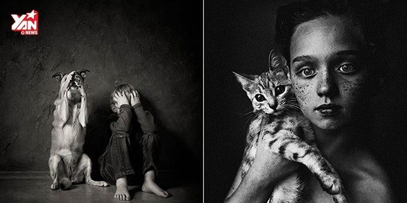 """Những bức ảnh """"trẻ em và động vật"""" làm lay động lòng người"""
