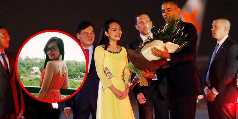 """Sự thật về gia thế """"khủng"""" của cô gái được tặng hoa cho Obama"""