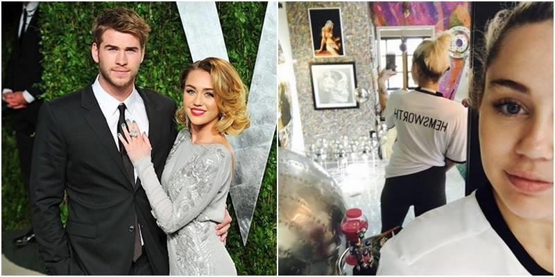 yan.vn - tin sao, ngôi sao - Công khai mặc áo Hemsworth, Miley phá vỡ tin đồn chia tay