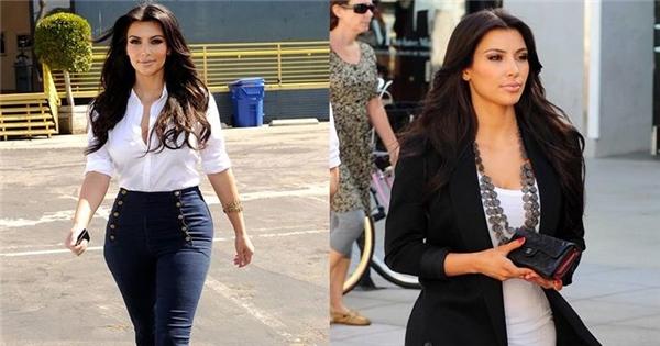 Bật mí bí quyết giảm cân nhờ... mặc đẹp của Kim Kardashian