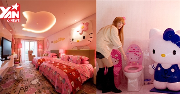 Muốn xỉu với ngôi nhà trang trí Hello Kitty từ cổng cho tới phòng ngủ