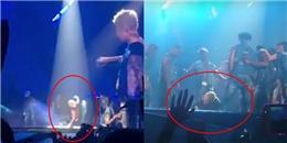 yan.vn - tin sao, ngôi sao - Đá nước vào vũ công, Justin Bieber trượt ngã dập mông trong concert