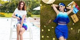 Mát lịm với sắc xanh biển trời điệu đà, nữ tính như Lã Thanh Huyền