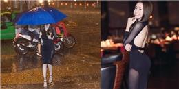'Phát sốt' với hình ảnh Elly Trần diện váy xuyên thấu đi giữa trời mưa