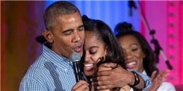 Tan chảy trước cách Tổng thống Mỹ Barack Obama mừng sinh nhật con gái