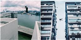 Thót tim với nhóm thanh niên 'bay như chim' từ sân thượng nhà cao tầng