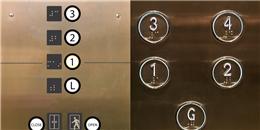Vì sao nút bấm trên thang máy có những dấu chấm nổi?