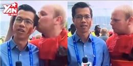 Tường thuật Euro 2016, phóng viên Việt Nam bị 'cưỡng hôn trắng trợn'