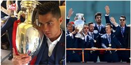 Bồ Đào Nha hoành tráng đón 'người hùng' chiến thắng Euro 2016 trở về