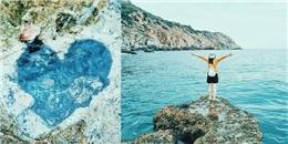 'Sốt điên đảo' với hố đá trái tim đẹp như trong phim ở Việt Nam