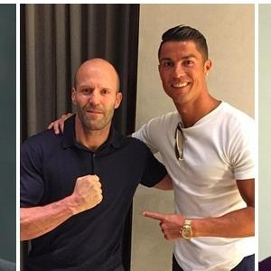 """Fan """"sốt bần bật"""" vì Ronaldo và Jason Statham tụ hội"""