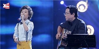Gia Khiêm nhẹ nhàng, tình cảm hát  À ơi  đêm chung kết Việt Nam Idol Kids