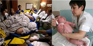 Bà mẹ 300kg  vất vả  hạ sinh đứa con nặng nhất thế giới