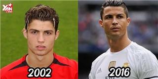 Hành trình  lên đời  nhan sắc của Cristiano Ronaldo