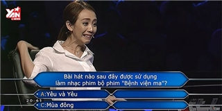Thu Trang muốn  độn thổ  vì câu hỏi này trên  Ai là triệu phú