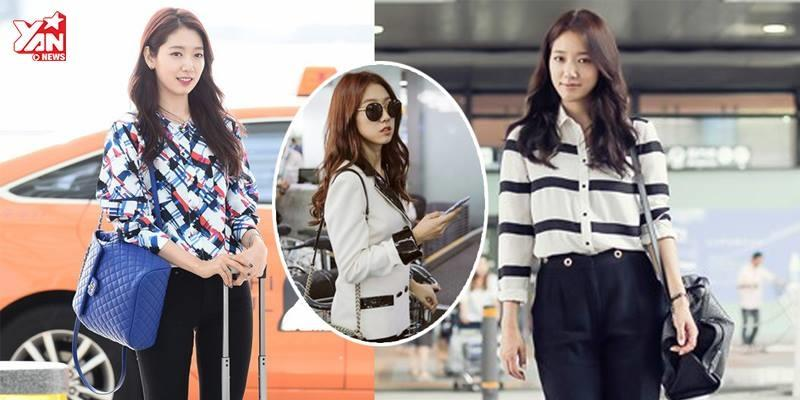 Ngắm nhìn gu thời trang sân bay biến hoá của Park Shin Hye