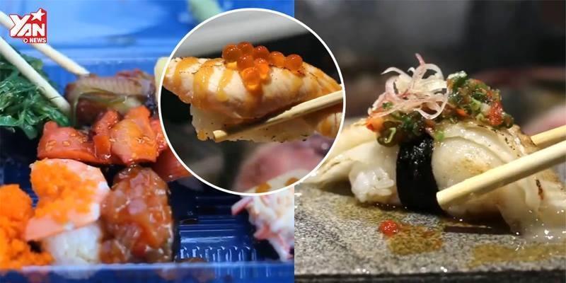 """Đây là đoạn clip sẽ khiến các tín đồ sushi """"chết ngất"""""""