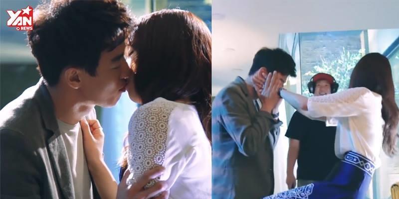 """Sau 11 tập, cuối cùng Ji Hong cũng đã chịu """"hôn sâu"""" Hye Jung"""