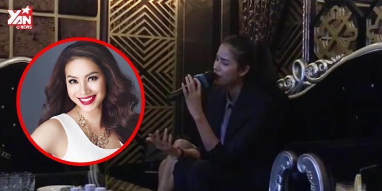 """Mệt mỏi vì dư luận, Phạm Hương đi karaoke hát """"hit"""" của Hồ Ngọc Hà"""