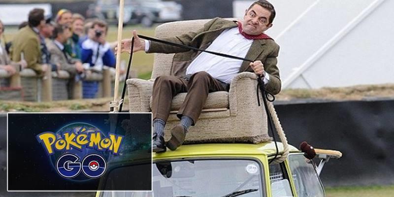 Chết cười trước cảnh Mr. Bean nghiện bắt Pokemon