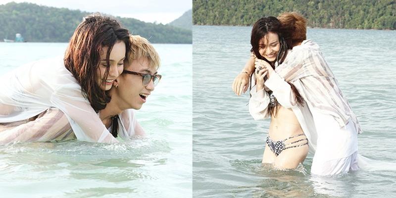 Vắng Cường Seven, MLee công khai ôm ấp Soobin Hoàng Sơn trên biển
