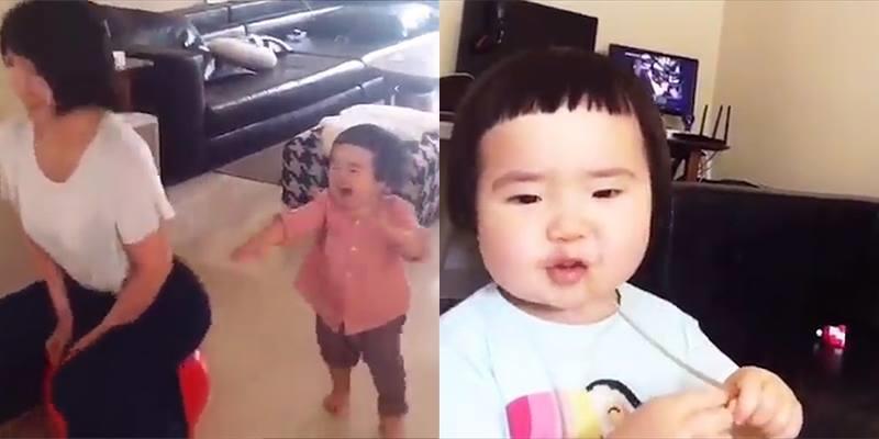 """""""Bé gái háu ăn"""" lộ clip """"bản chất thật"""" siêu dễ thương"""