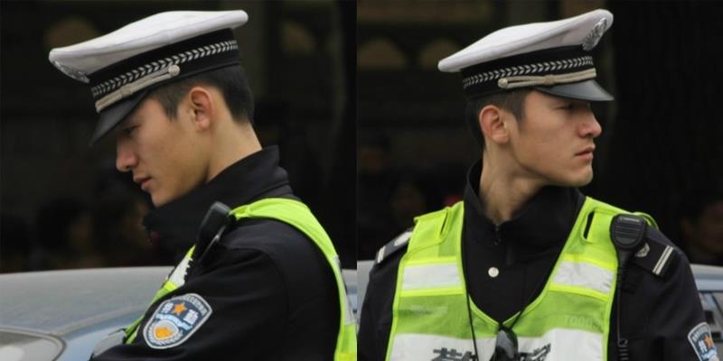 Chết ngất với chàng cảnh sát điển trai bản sao Huỳnh Hiểu Minh