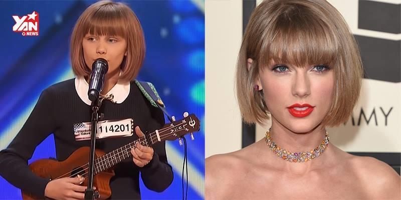 """""""Taylor Swift phiên bản mini"""" khiến cả nước Mỹ sững sờ"""