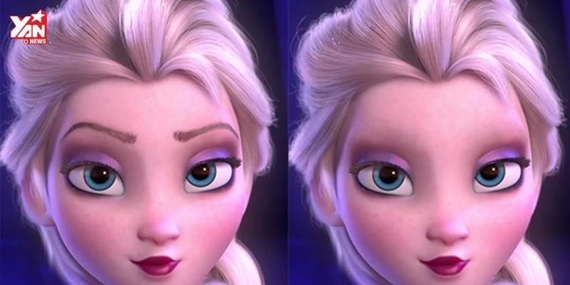Các công chúa Disney cũng không đẹp nổi nếu thiếu lông mày