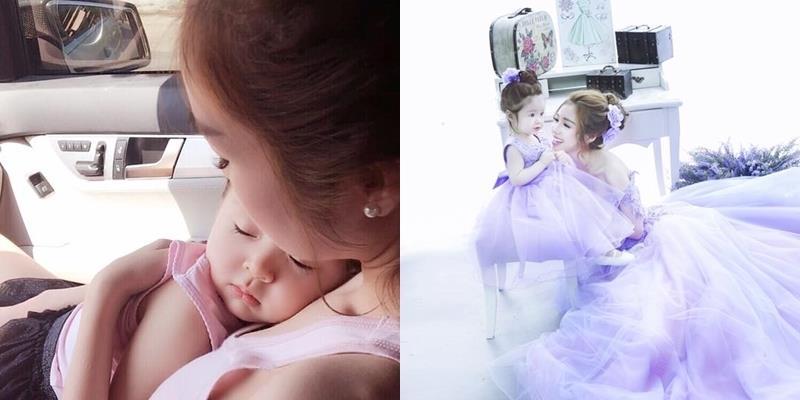 """Fan """"tan chảy"""" trước khoảnh khắc bình yên của Elly bên con gái"""