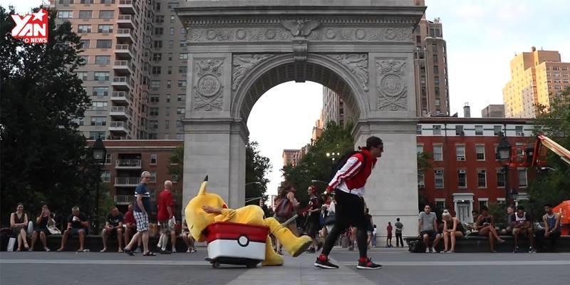 Trố mắt với cuộc săn đuổi Pikachu ngoài đời thực