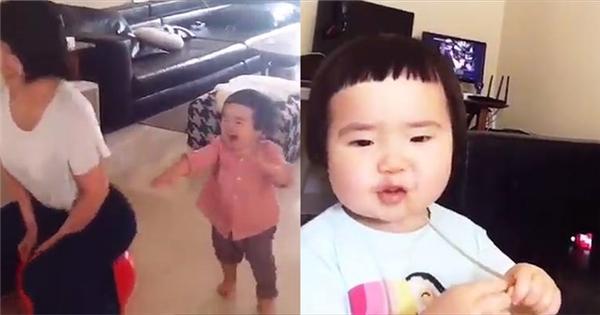 'Bé gái háu ăn' lộ clip 'bản chất thật' siêu dễ thương