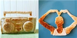 Cảm động người cha tự tay tạo hình bánh mì cho bữa sáng của con gái